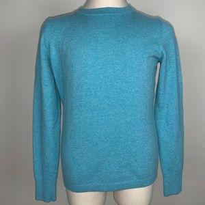 Lands' End 100% Cashmere Blue Sweater Size S
